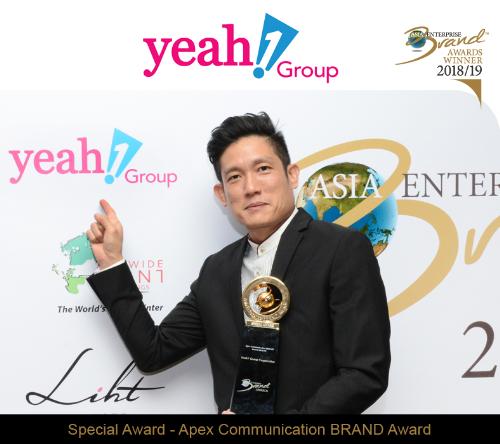 Đại điện YEG, ông Jason Loh - COO tập đoàn Yeah1 tại lễ trao giải Asia Enterprise Brand Awards