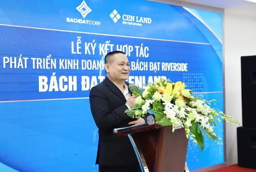 Đại diện chủ đầu tư Bách Đạt phát biểu tại sự kiện.