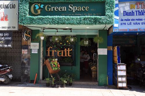 Cửa hàng Greenspace Store trên đường Lê Văn Sỹ, quận Tân Bình, TP HCM.