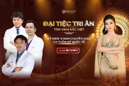 Chương trình mang tên Đại tiệc tri ân tôn vinh sắc Việt được tổ chức nhân kỷ niệm 5 năm chuyển giao công nghệ thẩm mỹ quốc tế tại Dr. Hải Lê.