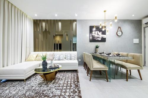 Căn hộ Charmington Iris có thiết kế thoáng, đón ánh sáng, gió, oxy tự nhiên cùng nội thất sang trọng.