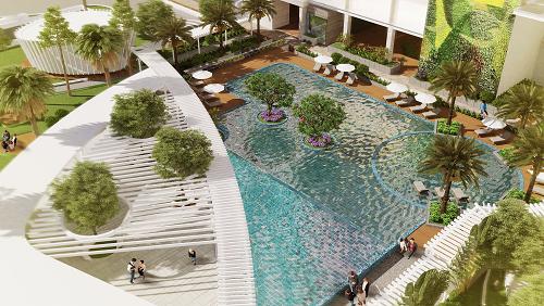 Dự án có loạt tiện ích sang trọng, hiện đại, gần gũi với thiên nhiên.