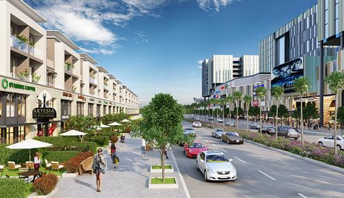Phối cảnh toàn bộ dự án Everde City 356ha tại huyện Đức Hòa, Long An - Ảnh: X.C  Ảnh 2: Đại học Tân Tạo tiêu chuẩn quốc tế thuộc trong dự án Everde City do tập đoàn Tân Tạo làm chủ đầu tư - Ảnh: X.C  Ảnh 3: Phối cảnh nội bộ khu đô thị Everde City khi đi vào hoàn thành -