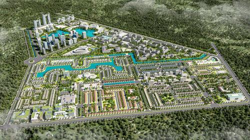 [Phối cảnh toàn bộ dự án Everde City 356ha tại huyện Đức Hòa, Long An - Ảnh: X.C  Ảnh 2: Đại học Tân Tạo tiêu chuẩn quốc tế thuộc trong dự án Everde City do tập đoàn Tân Tạo làm chủ đầu tư - Ảnh: X.C  Ảnh 3: Phối cảnh nội bộ khu đô thị Everde City khi đi vào hoàn thành -