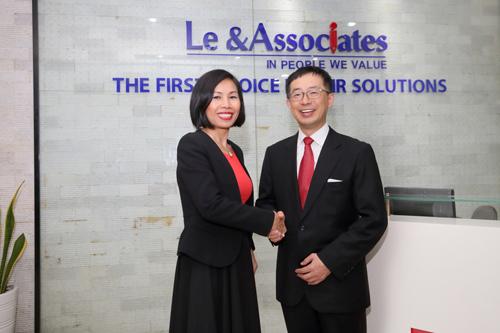 Bà Phạm Thị Mỹ Lệ, Chủ tịch HĐQT L & A và ông Yuichi Kamata, Corporate Executive Officer (CEO) của Trust Tech Inc