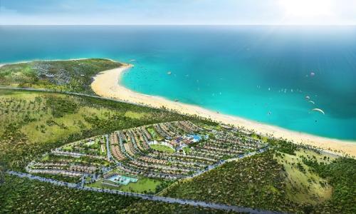Toàn cảnh dự án NovaHills Mũi Né với tầm nhìn hướng biển.