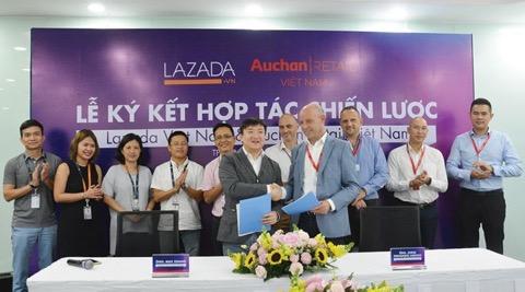 Auchan Retail Việt Nam vừa ký kết hợp tác chiến lược với Lazada.