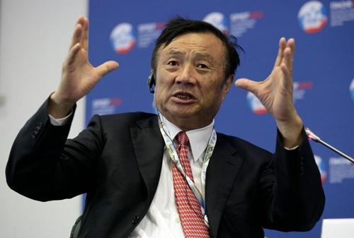 Nhà sáng lập Huawei - Nhậm Chính Phi. Ảnh: AP
