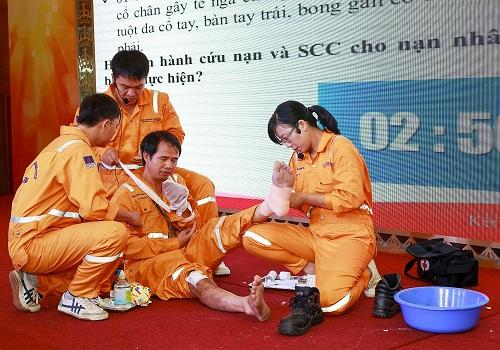 PV Gas thường xuyên tổ chức huấn luyện - diễn tập phòng cháy chữa cháy và cứu hộ cứu nạn.