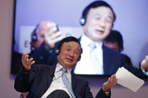 Ông Nhậm Chính Phi - Chủ tịch kiêm CEO Huawei. Ảnh: Bloomberg