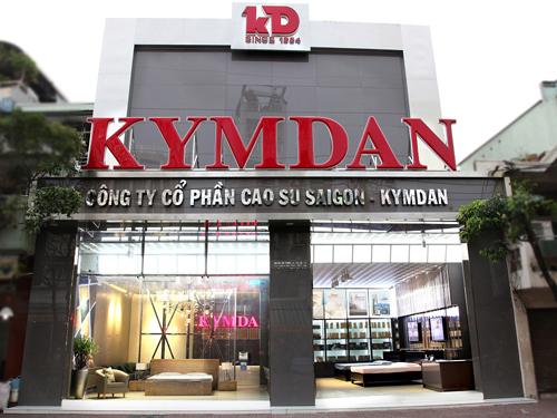 Không gian trưng bày ở một cửa hàng của Kymdan.