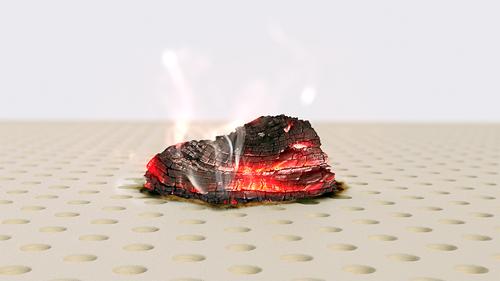 Nệm KYMDAN không bắt lửa với than củi nung đỏ (không có ngọn lửa) tại thời điểm nhiệt độ than củi đạt 1000oC liên tục trong 7 phút.