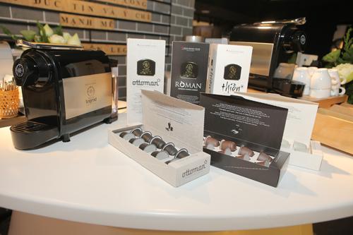 Mẫu mã ba dòng sản phẩm cà phê viên nén Trung Nguyên Legend Capsule.