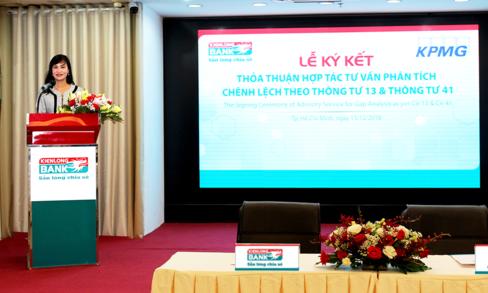 Bà Trần Tuấn Anh - Thành viên HĐQT kiêm Tổng Giám đốc Kienlongbank phát biểu tại sự kiện.