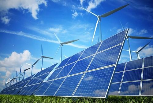 Một dự án điện mặt trời tại Bình Thuận.