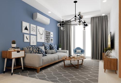 Căn hộ hai phòng ngủ tại Mipec City Viewthiết kế thông minh, tối ưu không gian sử dụng.
