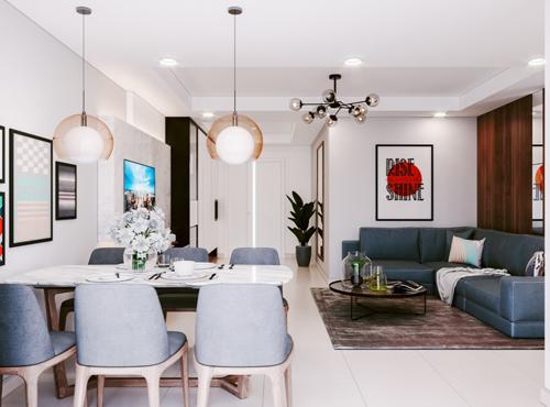 Căn hộ ba phòng ngủ tại Mipec City View có diện tích từ 77,9 - 83,2m², giá từ 1,3 - 1,5 tỷ đồng.