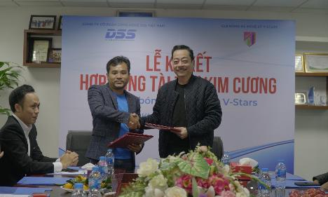 DSS Việt Nam tài trợ cho câu lạc bộ bóng đá nghệ sĩ V- Stars