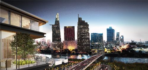 The Galleria Residences có hướng nhìn trực diện vào tung tâm thành phố.