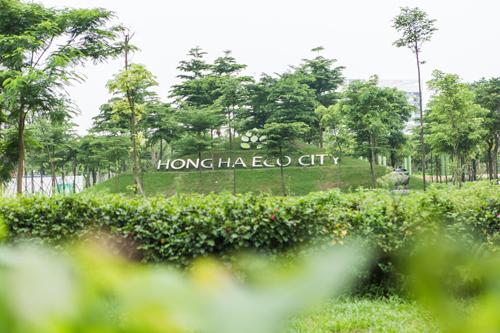 KĐT Hồng Hà Eco City được lựa chọn bởi 70% diện tích dành cho mảng xanh rộng lớn và tiện ích nội khu khép kín