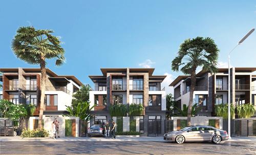 Theo chủ đầu tư Lộc Tú, tháng 9 năm sau trên khu đất 9 ha sẽ mọc lên 300 căn biệt thự nghỉ dưỡng biển đẳng cấp, 100% view biển.