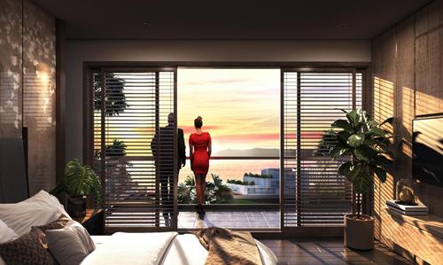 Không chỉ view biển 100%, toàn bộ các căn biệt thự tại dư án đều sở hữu tầm nhìn triệu đô. Dự án nằm trên đồi cao là một trong những nơi ngắm hoàng hôn đẹp nhất Việt Nam (theo bình chọn của CNN).