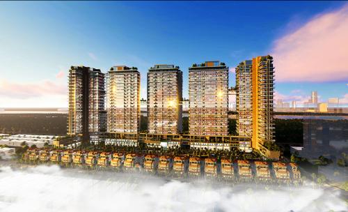 Dự án Sunshine Crystal River tọa lạc trong khu đô thị Nam Thăng Long (Hà Nội)