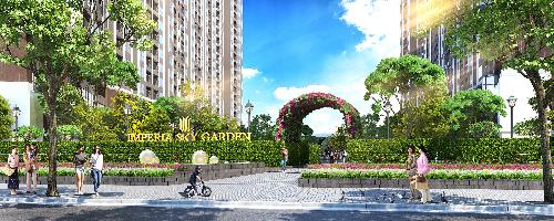 Tổ hợp căn hộ chung cư cao cấp Imperia Sky Garden tọa lạc tại 423 Minh Khai, Hà Nội.