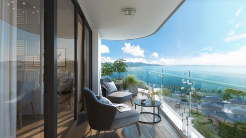 Tầm nhìn từBest Western Premier Sapphire Ha Long thu trọn cảnh quan đắt giá của Vịnh Hạ Long.