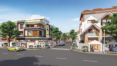 Phối cảnh dãy nhà phố bên trong dự ánBarya Citi.