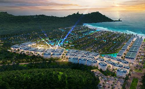 Phối cảnhtổng thể dự án Sun Premier Village Kem Beach Resort, phía Nam đảo Phú Quốc.