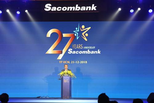 Ông Dương Công Minh - Chủ tịch HĐQT Sacombank phát biểu.