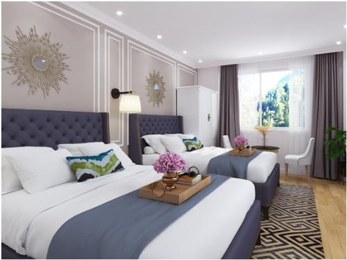 Đà Lạt Travel Mall có80 phòng khách sạn với nội thất chuẩn 3 sao.