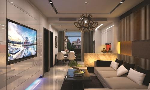 Phòng khách Golden Park Tower thiết kế thông minh, rộng thoáng