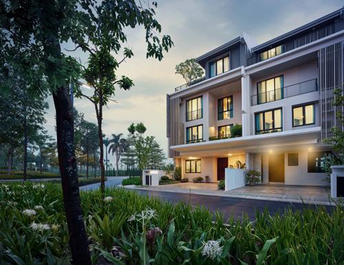 Thiết kế đẳng cấp, hoà mình giữa không gian sinh thái xanh mát của The Mansions.
