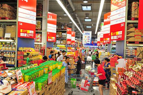 Nhiều mặt hàng thực phẩm giá giá mạnh tại MM.