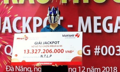 Vị khách nhận giải thưởng hơn 13 tỷ đồng.