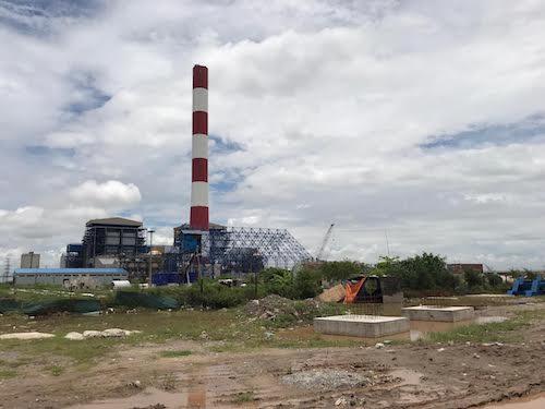 Nhà máy nhiệt điện Thái Bình 2 vẫn dang dở sau sau gần 6 năm khởi công. Ảnh: H.T