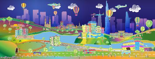 Công nghệ 3D mapping tương tác trong JP World sẽ tạo nên một không gian kỳ ảo và ấn tượng đối với người xem.