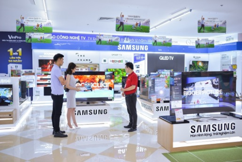 Nhiều thương hiệu lớn, uy tín nhất hiện nay đều tham gia vào chương trình Mua điện máy - Đổi vận ngay của VinPro và Viễn thông A.