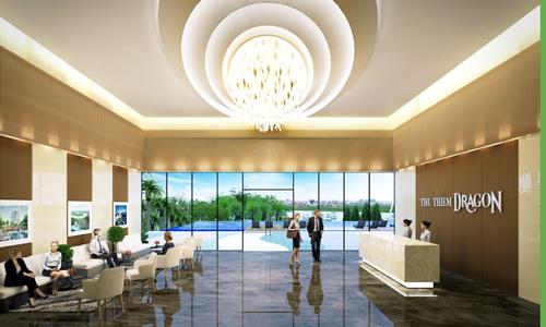 Được chăm chút kỹ lưỡng với sảnh lễ tân và các tiện ích đẳng cấp, căn thương mại của Thủ Thiêm Dragon là lựa chọn lý tưởng để các DN đặt văn phòng kinh doanh
