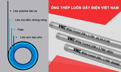 Ống thép luồn dây điện Việt Nam - VNC Vietconduit.
