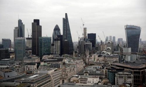 Một góc thủ đô London (Anh) - trung tâm tài chính của châu Âu. Ảnh: Reuters
