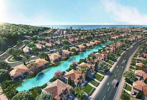 Mẫu biệt thự có hồ bơi dài xuyên suốt tới 250m của NovaHills Mũi Né.Tham quan biệt thự mẫu dự án tại26 Mai Chí Thọ, An Phú, quận 2 hoặc liên hệ hotline0938221226.