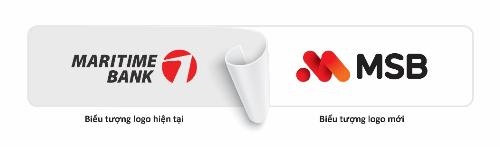 Giao diện logo cũ và mới của Ngân hàng Hàng Hải.