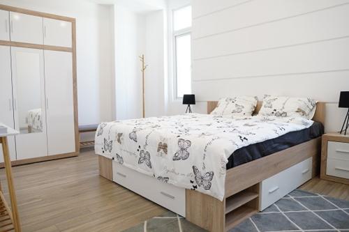 Khu vực room setting với những căn phòng mẫu theo phong cách Scandinavian.
