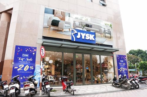 Chuỗi cửa hàng JYSK hiện có tại Hà Nội, Đà Nẵng và TP HCM.