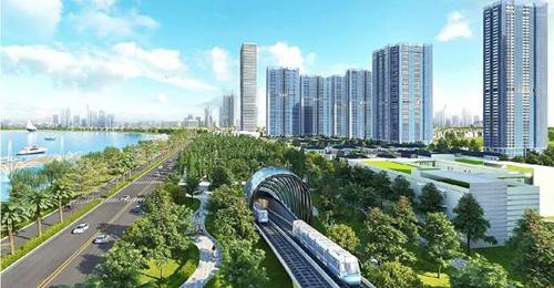 Phối cảnh quy hoạch tuyến Metro số 2 (Bến Thành - Tham Lương).