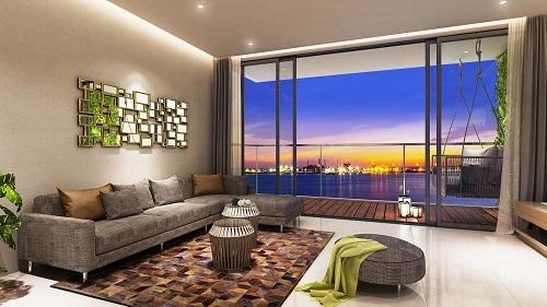 An Gia Skyline với thiết kế theo xu hướng mở, liên kết thống nhất giữa phòng khách, phòng bếp và phòng ăn mang đến không gian sinh hoạt rộng rãi.