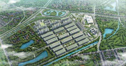Him Lam Green Park phát triển theo quy hoạch khu đô thị hoàn chỉnh.